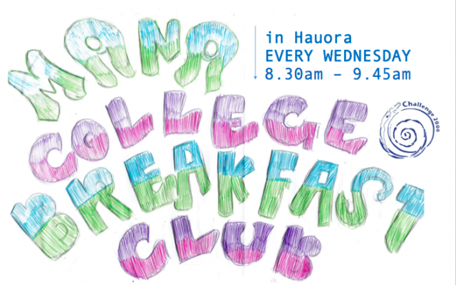 Breakfast is served at Mana College! Have a healthy start to the day! Good chat – Play games – Make pancakes, french toast and other yummy creations. Students are welcome […]